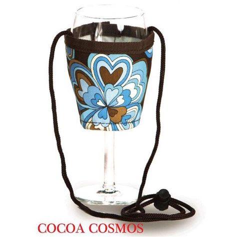 Picnic Plus Psm 167cc Wine Glass Lanyard 2 Cocoa Cosmos Wine