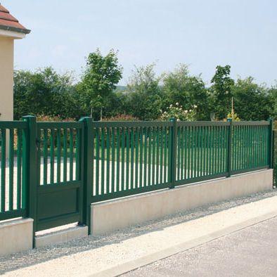 Clôture de jardin / à barreau / en aluminium / teintée ...