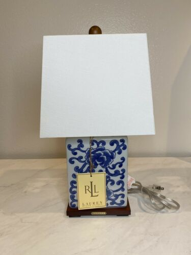Nwt Ralph Lauren Chinese Porcelain Floral Blue White Meredith Table Lamp Lamp Jar Table Lamp Blue And White