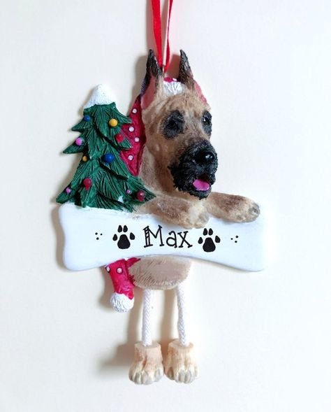 Great Dane Dog Personalized Christmas Ornament Personalized