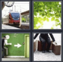 11 best 4 pics 1 word 6 letters images on pinterest 1 letters and 4 pics 1 word train green leaves from three green wall with arrow pointing expocarfo