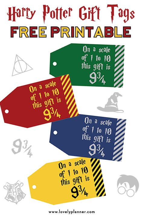Harry Potter Christmas Gifts.Free Printable Harry Potter Gift Tags On A Scale Of 1 To 10