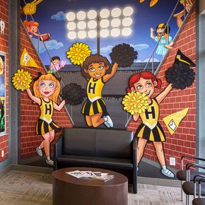 Sports Wall Murals i spy wall mural designedimagination dental solutions | wall