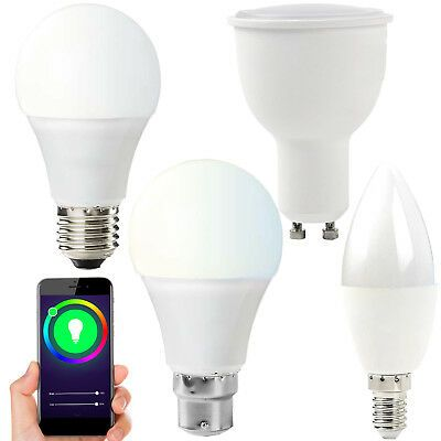 Details About Wifi Colour Changing Led Light Bulbs Rgb Warm White Smart Auto Dimmable Timer Color Changing Led Led Light Bulbs Light Bulbs