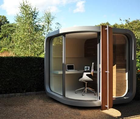 Replace An Old Garden Shed With This Perfect Corner Office Or Is It A Play House Small Yard Ideas For Families Kids Pinterest