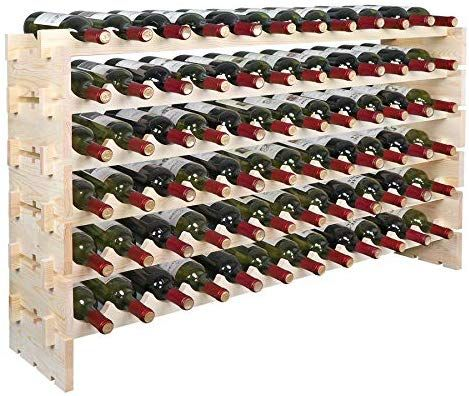 Amazon Com Smartxchoices 72 Bottle Stackable Modular Wine Rack