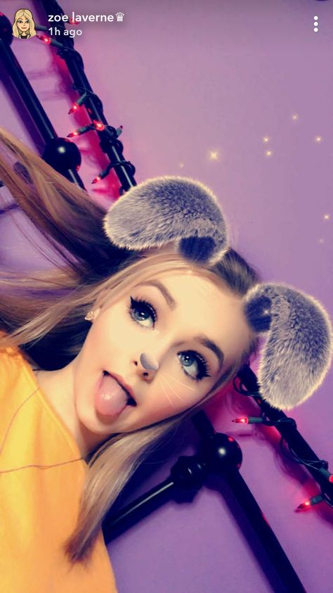 Zoe As A Cute Bunny Rabbit From Her Story On Snapchat