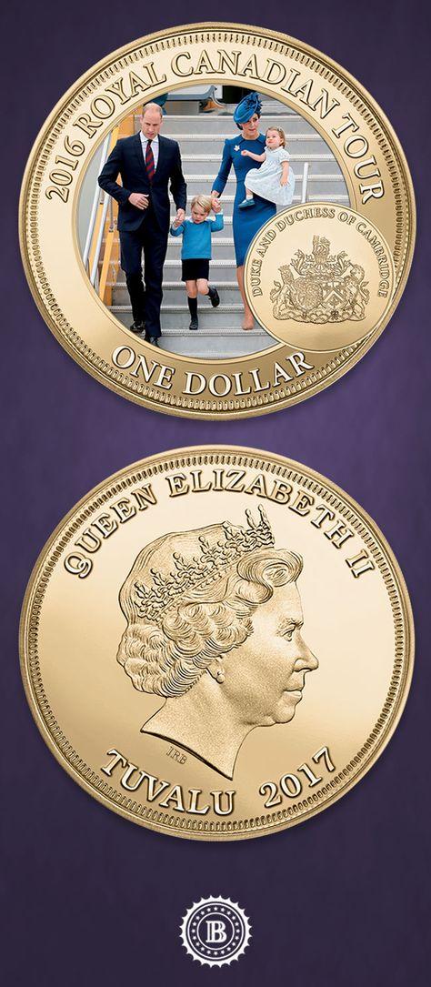 Set of 2 Royal Canadian Mint Medallion Coins PRINCESS CHARLOTTE of Cambridge