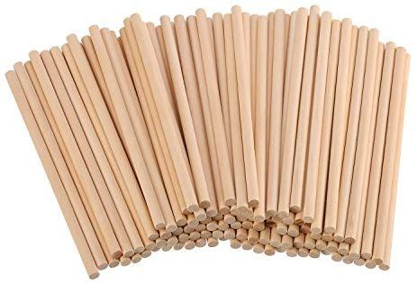 Amazon Com Eboot Unfinished Natural Wood Craft Dowel Rods 100 Pack 6 X 1 4 Inch In 2020 Natural Wood Crafts Wood Crafts Wood