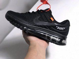 Mens Womens Shoes Nike Air Max 2017 Off White Triple Black
