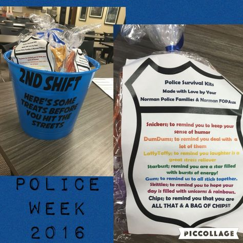 Police Survival Kits police Week ideas Thank a Police Officer ideas #policeweek #backtheblue gift ideas for him