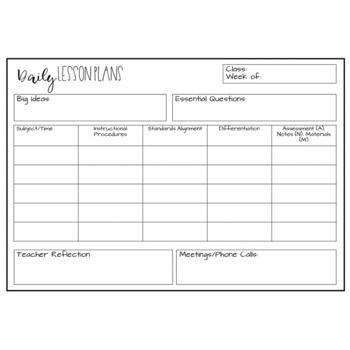 Editable Lesson Plan Template Freebie Lesson Plan Template Free Lesson Plan Templates Teacher Lesson Plans Template