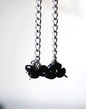 2mm Black Hand Faceted Diamond Earrings by Created2Inspire on Etsy, $70.00