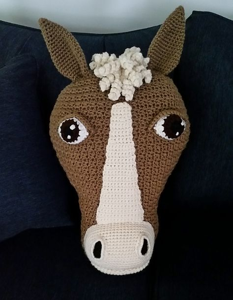 Horsin' Around Horse Pillow pattern by JoAnne Grimm Thompson