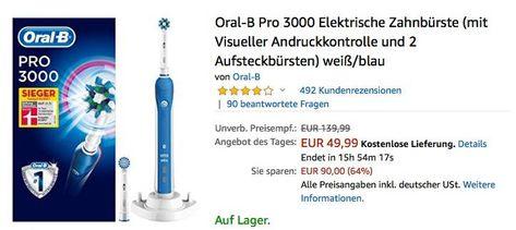 Oral B Trizone 3000 Elektrische Zahnburste Zahnburste Zahne Und Elektrisch