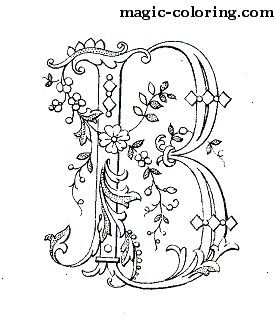 Magic Coloring Flowered Monograms 2 Coloring Pages Paper Embroidery Embroidery Patterns