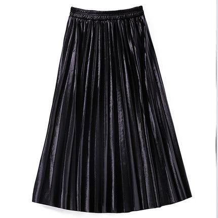 Samtrock Hohe Taille Große Schaukel Metallic Lange Faltenröcke#colorful #photooftheday #cute #picoftheday #beautiful #pretty #friends #cool #portrait #skirt #dress #styleseat #fashiondaily #fashionbags #fashionpria