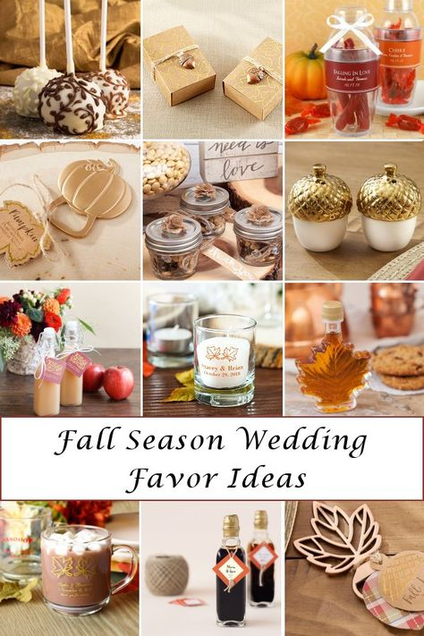 Visit our blog for fall season wedding favor ideas that you and your guest will FALL for! WeddingConnexion.com   #FallWeddingFavors #FallSeasonWeddingFavors #FallWeddingFavorIdeas