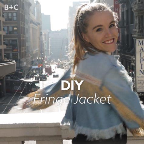 It doesn't get cooler than this DIY fringe jacket.
