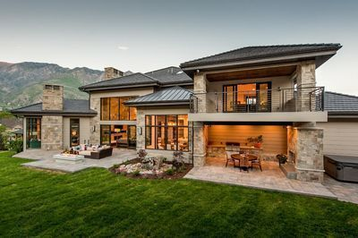 Plan 290101IY: Spacious 4 Bedroom Modern Home Plan with Lower Level Expansion in 2020 Modern house plans Modern house exterior Architectural design house plans