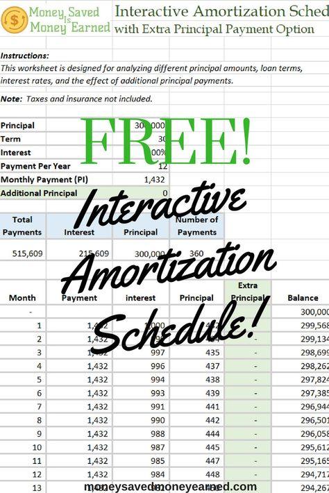 Free Interactive Amortization Schedule Calculator Plug Your