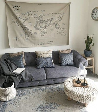 This sofa is so good to curl up on and read. #myhousethismonth  Take a pew #storyofmyhome  #mermagxgathre #livingroomideas #formallounge #loungedecor #livingroomgoals #highceilings #periodproperty #interiors #interiordesign #interior4inspo #mylagomhome #myinteriorsquares #sahstylists #scottishhome #scottishinteriors #designupnorth #livingroom #livingroomdesign #chesterfieldsofa #happyplace #vintagerug #dailyhomeshare #wonderfuleveryday #greyhomedecor #convertedpub #myhousebeautiful #interiors123