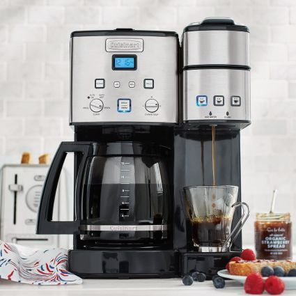 Cuisinart Coffee Center 12 Cup Coffee Maker And Single Serve Brewer Sur La Table Cuisinart Coffee Maker Coffee Center Coffee Maker