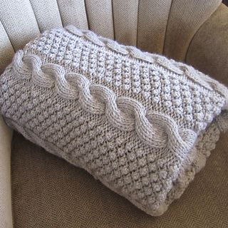 """This 60""""x72"""" blanket was inspired by one of my pillow cover designs: https://www.etsy.com/listing/118811806/blackberry-cables-..."""