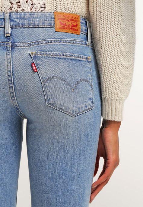 528fcef43fe Levi's Womens 711 0065 Skinny Light Wash Slim Denim Jeans Size 28 X 32