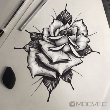Trendy Flowers Tattoo Desing Sketches Rose 39 Ideas Traditional Rose Tattoos Tattoo Desings Rose Flower Tattoos