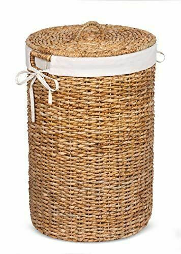 Birdrock Home Seagrass Laundry Hamper With Liner Round Clothes Bin With Lid Ebay Wicker Laundry Hamper Wicker Hamper Laundry Hamper Wicker laundry hamper with liner