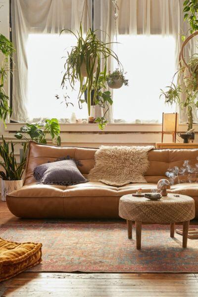 Greta Recycled Leather Xl Sleeper Sofa Deco Casa Interiores De