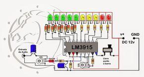 Vumetros A Led Descubre Los Secretos De Un Armado Exitoso Vumetro A Led Con Efecto Analizado Electronic Schematics Electronics Circuit Electrical Projects