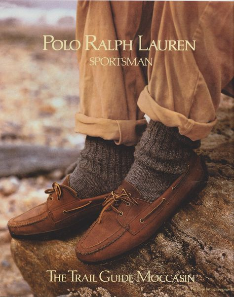 Old ralph lauren adverts fashion, fashion vintage, vintage men, fashion trends, Polo Ralph Lauren Shoes, Ralph Lauren Style, Ralph Lauren Collection, Vintage Men, Vintage Fashion, Socks Outfit, Smart Casual, Men Casual, Dior