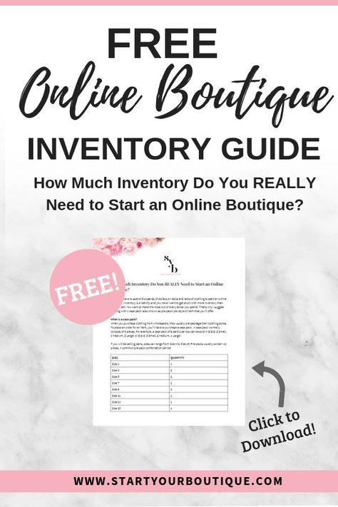 Inventory Guide | Start Your Boutique
