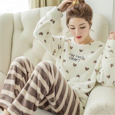 e78355eff Night Pajamas for Winter Cold Weather Indoor for Women Girls Ladies ...