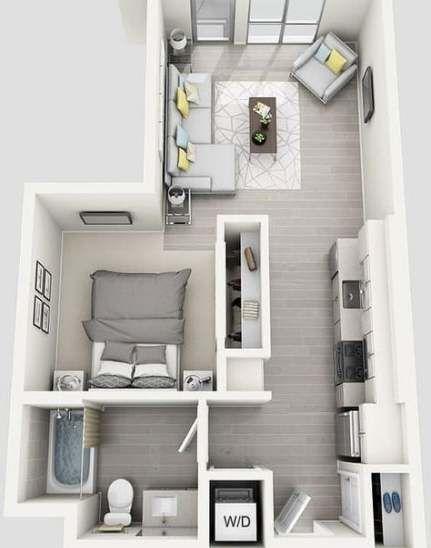 24 Super Ideas Bedroom Small Ideas Diy Studio Apartments Diy Bedroom Einrichten Wohnzimmer Hausdekor Hausde Sims House Plans Sims House Apartment Layout