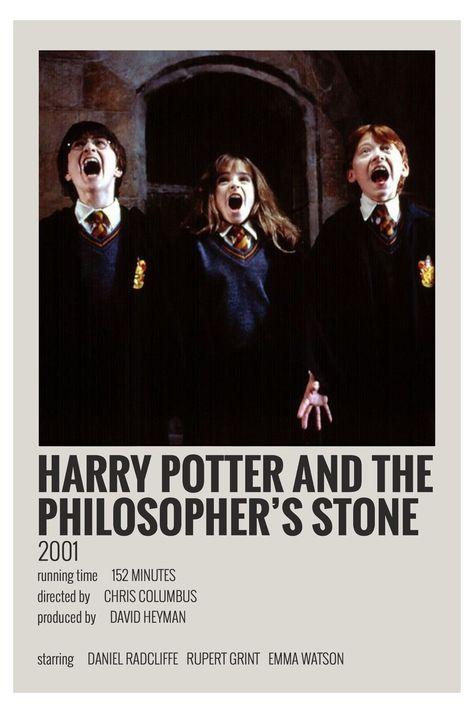 minimalist polaroid film posters harry potter