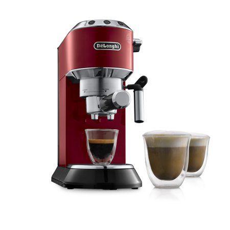 De Longhi Dedica Ec680 15 Bar Stainless Steel Slim Espresso And Cappuccino Machine With Advanced Cappuccino System Walmart Com Espresso Machine Cappuccino Machine Espresso