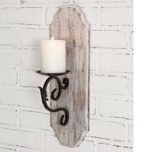 White Wood Pillar Candle Sconce Industrial Decor Rustic Decor Home Design Modern Farmhouse Vin Wall Candle Holders Rustic Candle Sconce Wall Candles