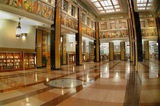 Toledo Public Library - love the glass mural