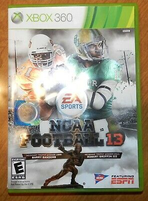 Ncaa Football 13 Microsoft Xbox 360 In Original Case W Insert