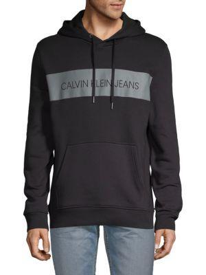 Calvin Klein Jeans Blocked Logo Pullover Hoodie Calvinkleinjeans Cloth Hoodies Men Pullover Hoodies Calvin Klein Jeans