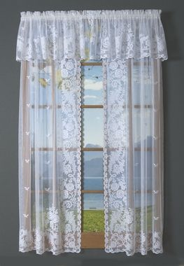 Irish Point Lace Tailored Curtain Pair Clearance Curtains