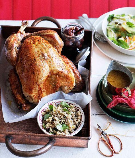 Roast turkey with burghul, preserved lemon and pine nuts - Gourmet Traveller