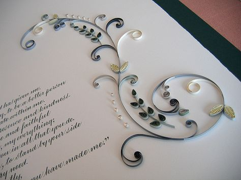 Quilled Marriage Certificate - detail | bởi all things paper