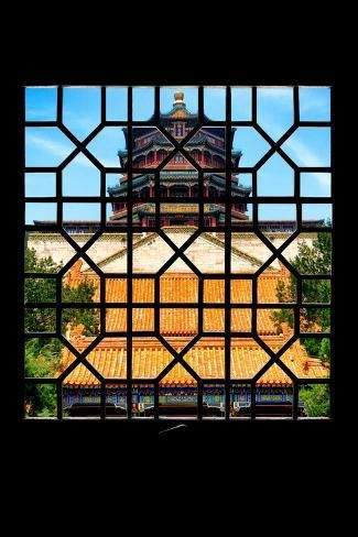 China 10mkm2 Collection Asian Window Summer Palace Temple Photographic Print Philippe Hugonnard Art Com Asian Windows Summer Palace Photographic Print