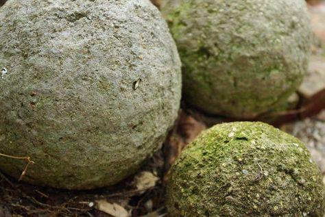 hypertufa balls and pots