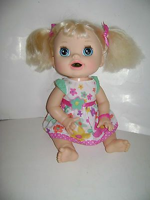 Hasbro 2016 Baby Alive Doll Blonde Works!