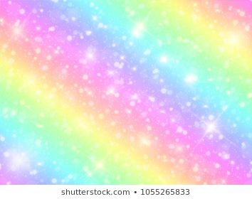Vector Illustration Of Galaxy Fantasy Background And Pastel Color The Unicorn In Pastel Sky With Rainbow Fantasy Background Vector Illustration Pastel Clouds